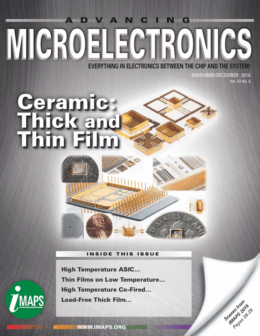 Featured Article in Advancing Microelectronics Magazine