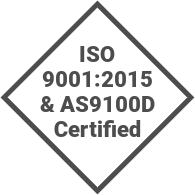 ISO 9001:2015 & AS9100D Certified